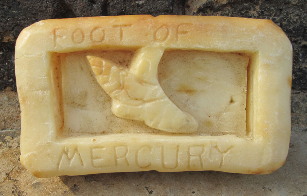 Antique american folk art ivory soap carvings mercury god