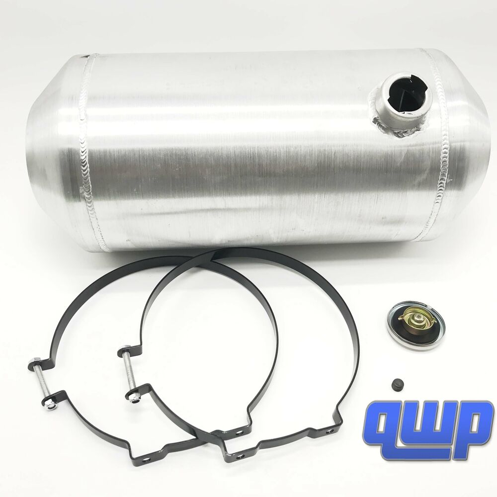 New aluminum round silver fuel gas tank can reservoir with