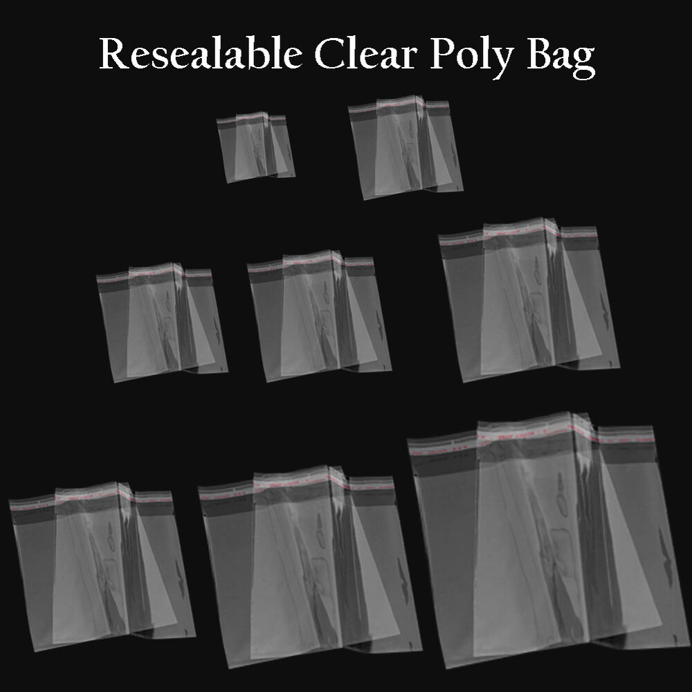 10 30 100 Self Adhesive Resealable Clear Plastic