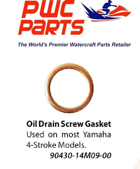 Yamaha oem outboard oil drain screw gasket 4 stroke f150 for Yamaha f150 lower unit oil