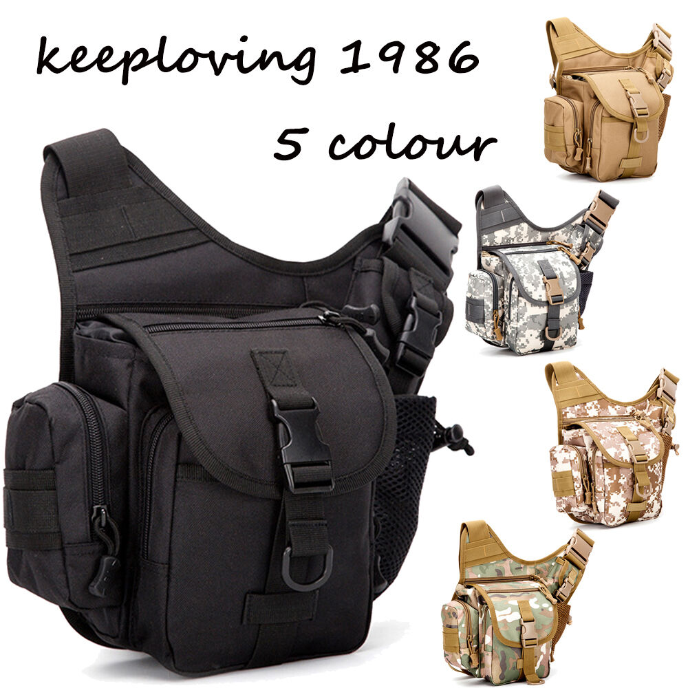 Men's Vintage Military Messenger/Shoulder Bag Sling Chest ...