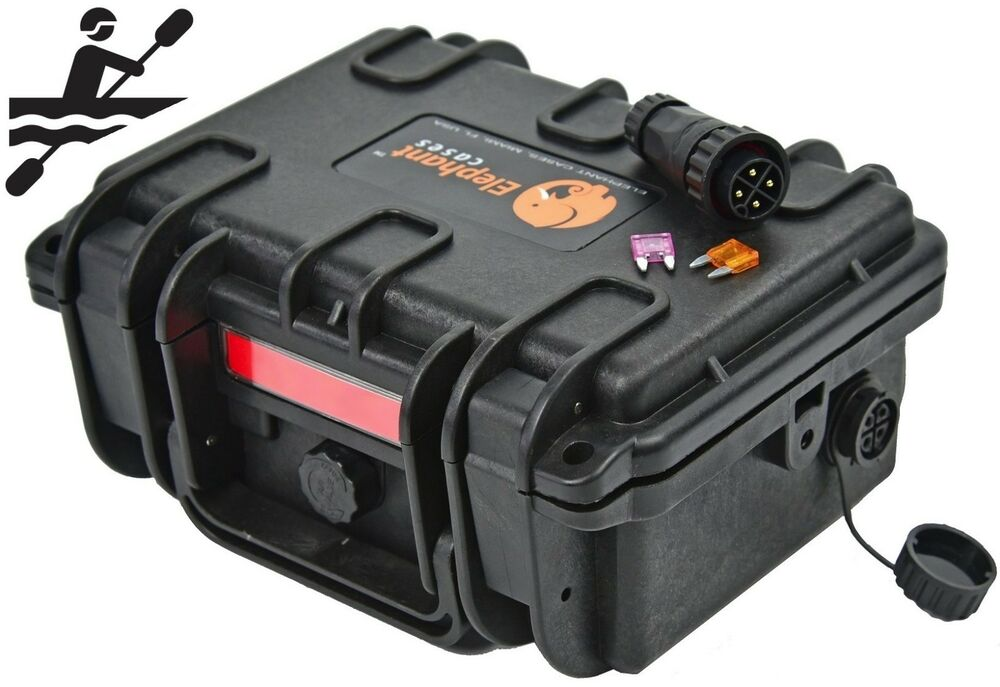 Elephant k095 waterproof battery case box for kayak boats for Fish finder battery