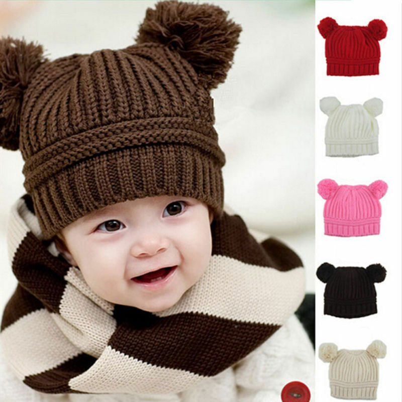 New Winter Warm Lovely Baby Kids Girls Toddler Knitted