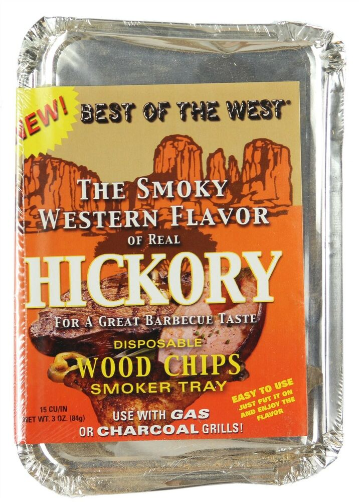 Hickory barbecue bbq wood chips tray for smoking charcoal