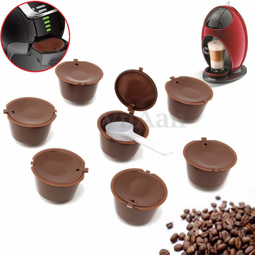 Coffee Pods And Capsules ~ Refillable reusable coffee capsules for dolce gusto