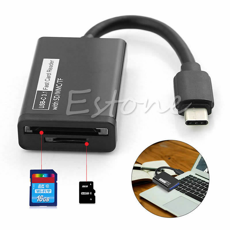 Usb Sd Apple Adapter: USB 3.1 Type C To Micro SD MMC SDXC TF Card Reader Adapter
