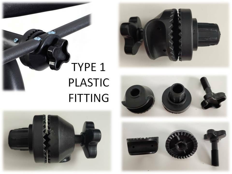 Pair of Fittings for Garden Swing canopy frame Plastic ...