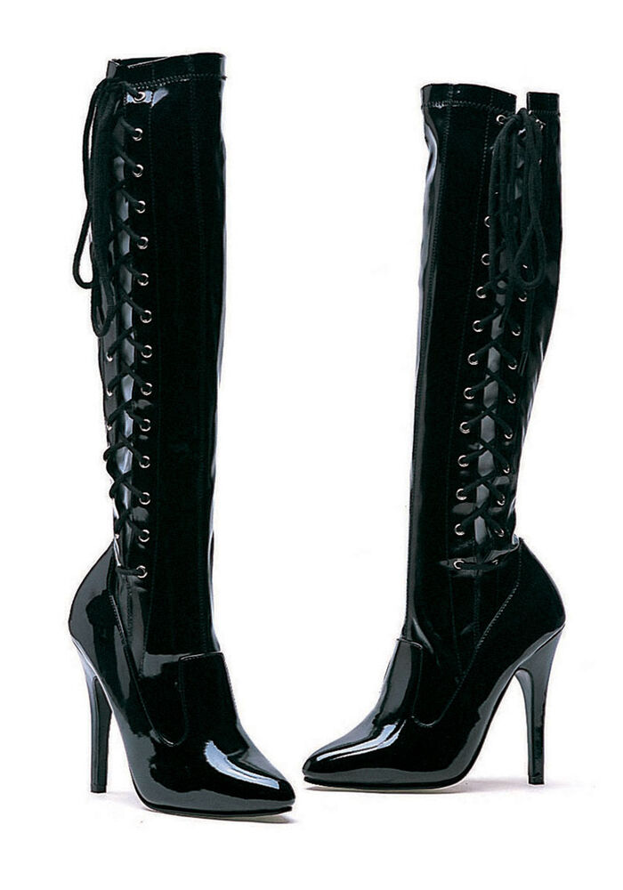 ellie shoes 5 heel knee high stretch boot s size