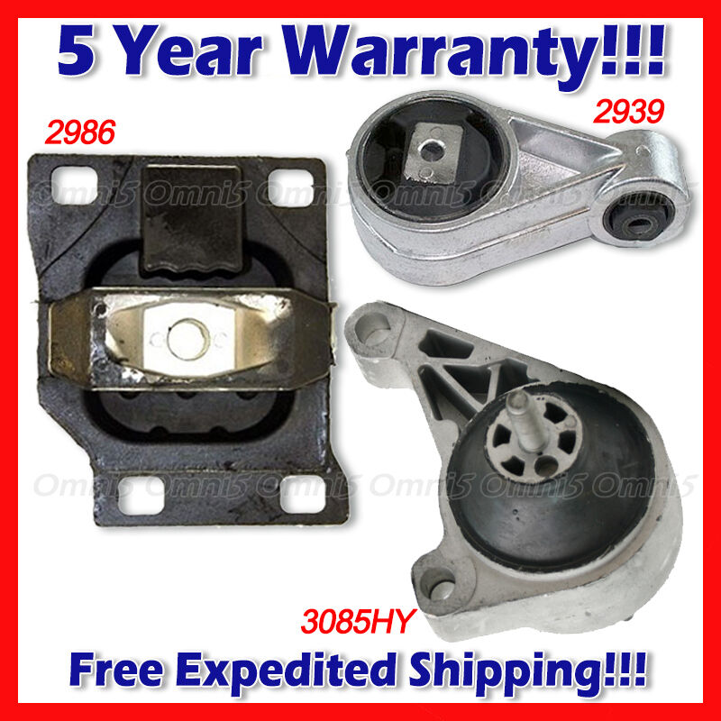 L819 fits 2002 2003 ford focus svt 2 0l engine motor for Motor mounts ford focus