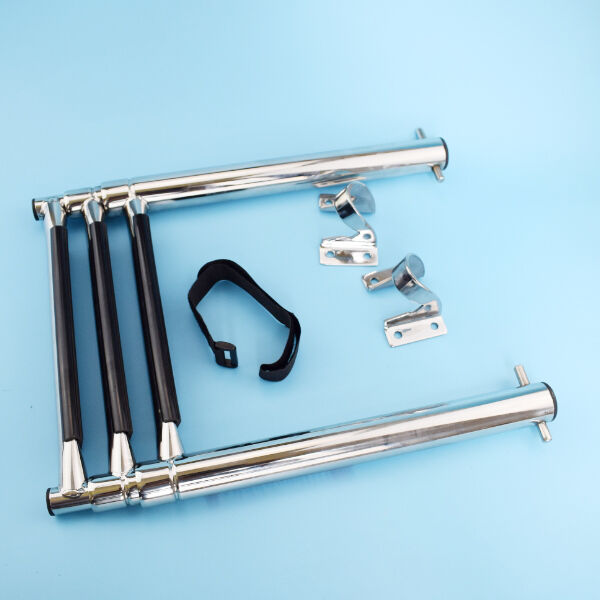 Telescopic Ladder Parts : Step folding boat ladder telescoping boarding swim