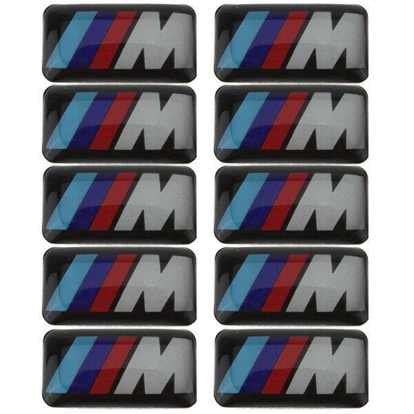 X12 Logo BMW M POWER Sticker 3D Insigne Autocollant 19X11mm