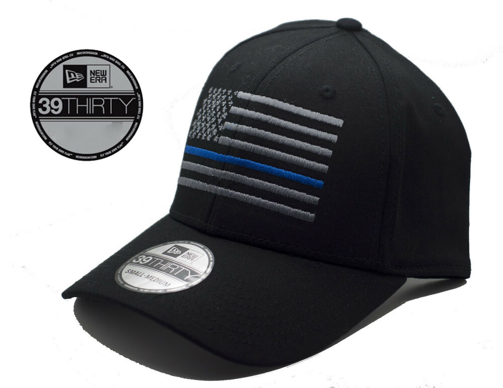 Details about NEW American Thin Blue Line Flag New Era 39Thirty NE1000  Black Hat-Free Shipping a80064eb3be
