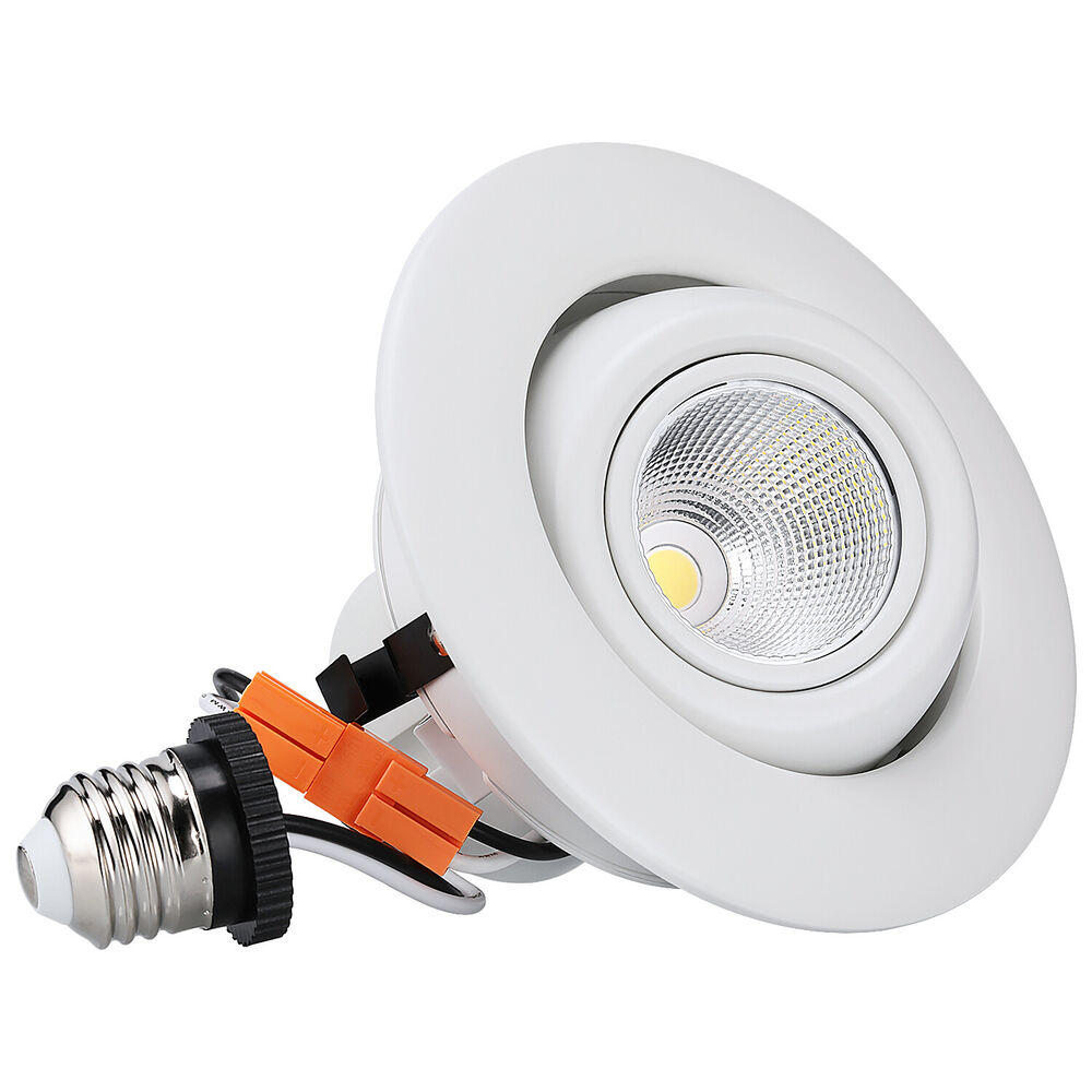 Led Ceiling Lights Daylight : W inch dimmable gimbal directional led recessed ceiling