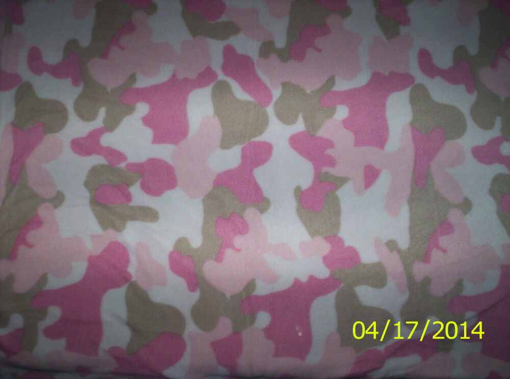 New Pink Mist Camouflage Fleece Fabric By The 1 2 Yard