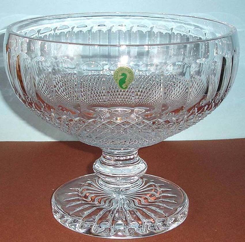 Waterford colleen footed centerpiece bowl 9 crystal made in ireland 146526 new ebay - Footed bowl centerpiece ...