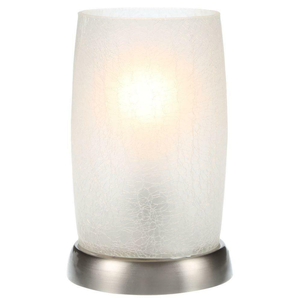 8 5 Modern Table Lamp Metallic Silver Desk Night