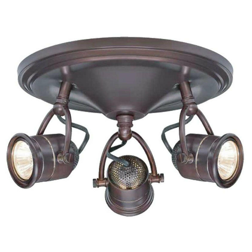 3 Bulb Ceiling Light: Hampton Bay 3-Light Vintage Track Lighting Ceiling Wall