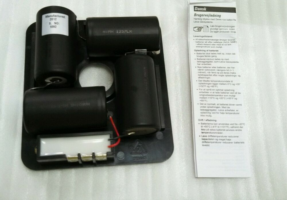 Leica Geosystems Rugby 100 200 Nimh Battery Pack Laser