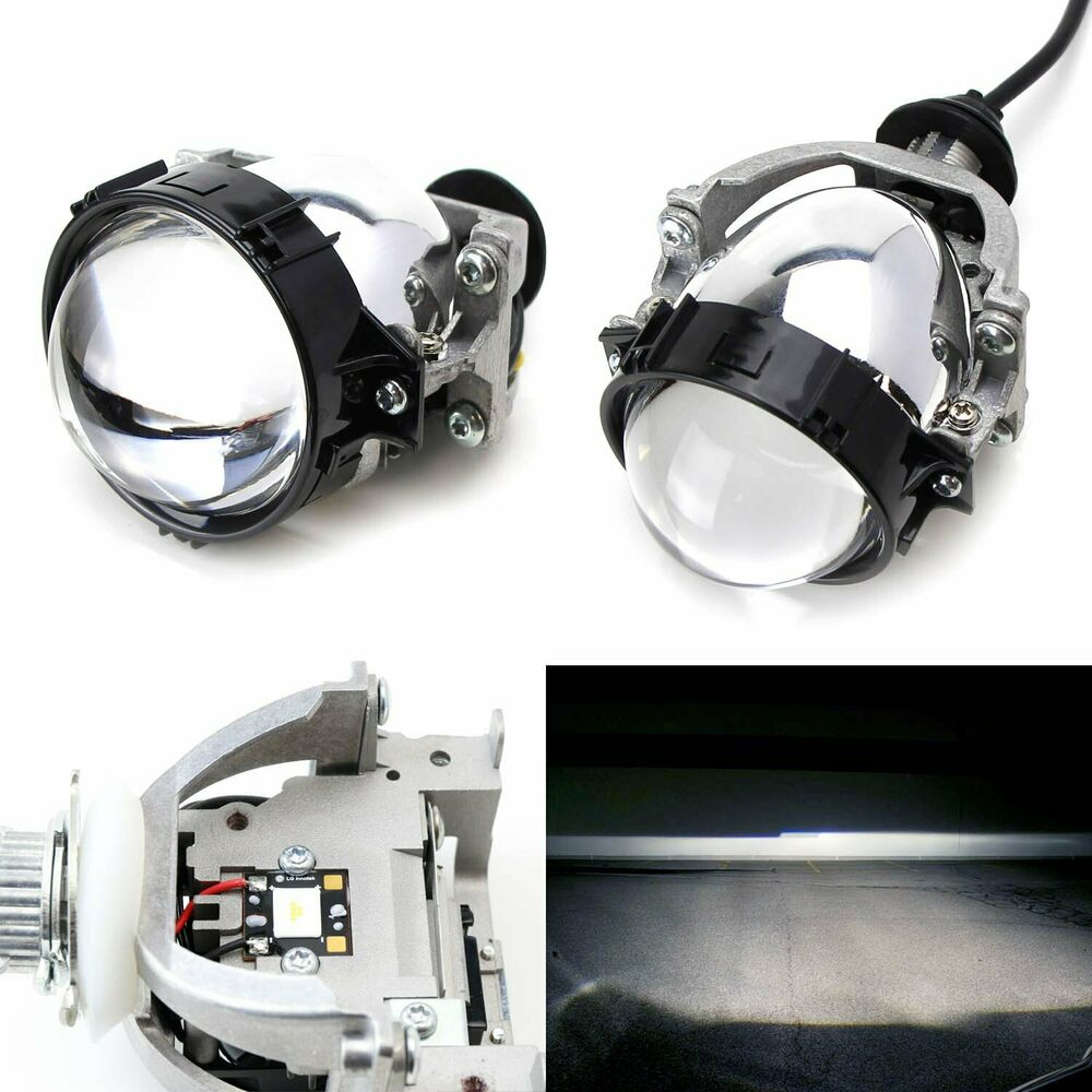 30w high power led bi xenon projector lens for headlight retrofit custom upgrade ebay. Black Bedroom Furniture Sets. Home Design Ideas