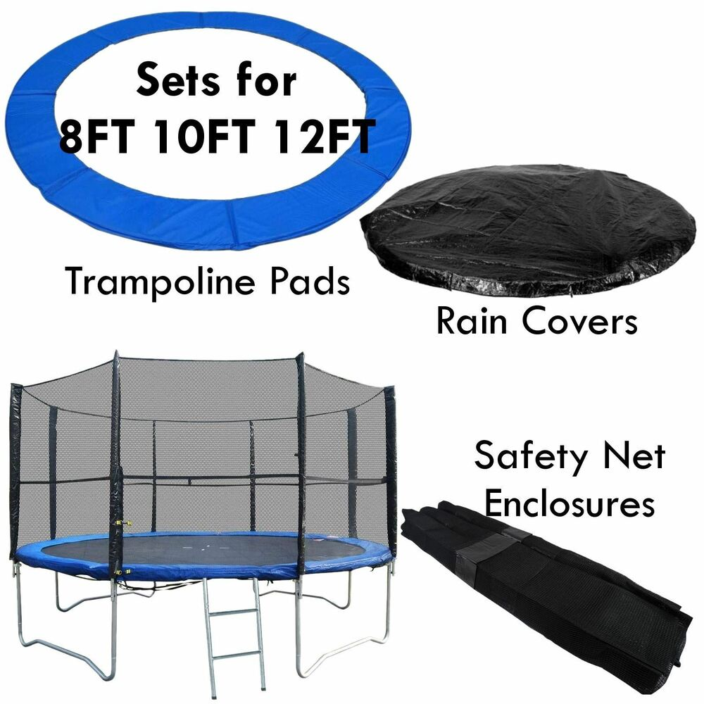 8 10 12 13 14 Ft Replacement Trampoline Pad Safety Guard: Trampoline Safety Enlosure Net And Pad Set Fits 8FT 10FT