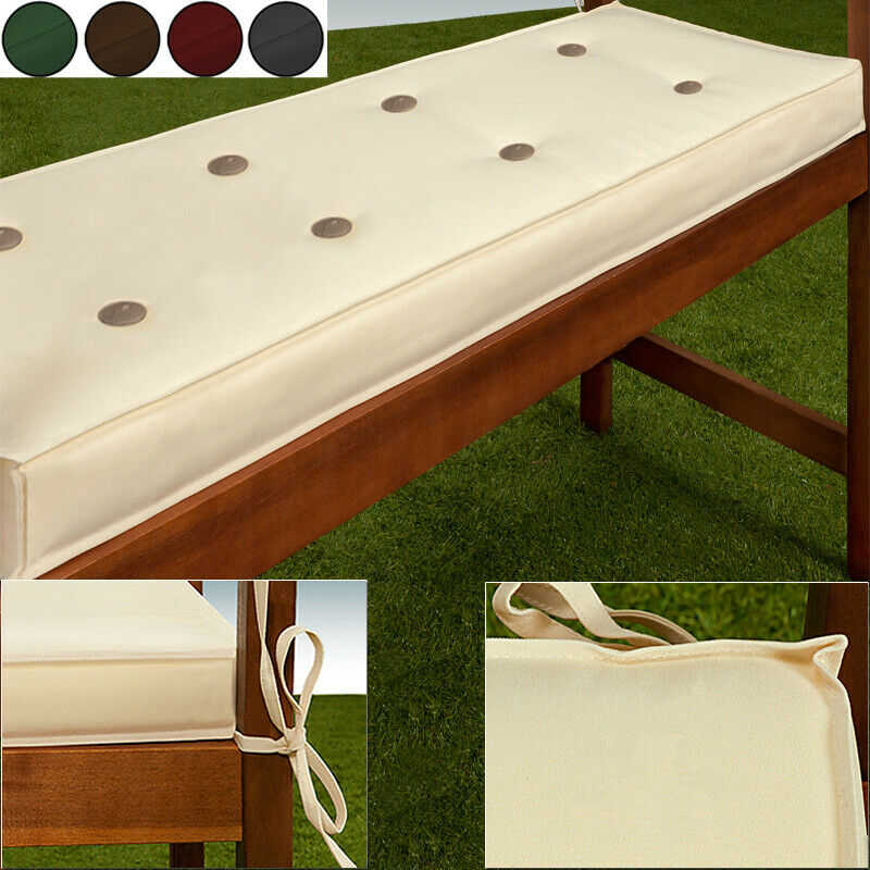coussin pour banc assise rembourr banc de jardin jardin maison coussins ebay. Black Bedroom Furniture Sets. Home Design Ideas