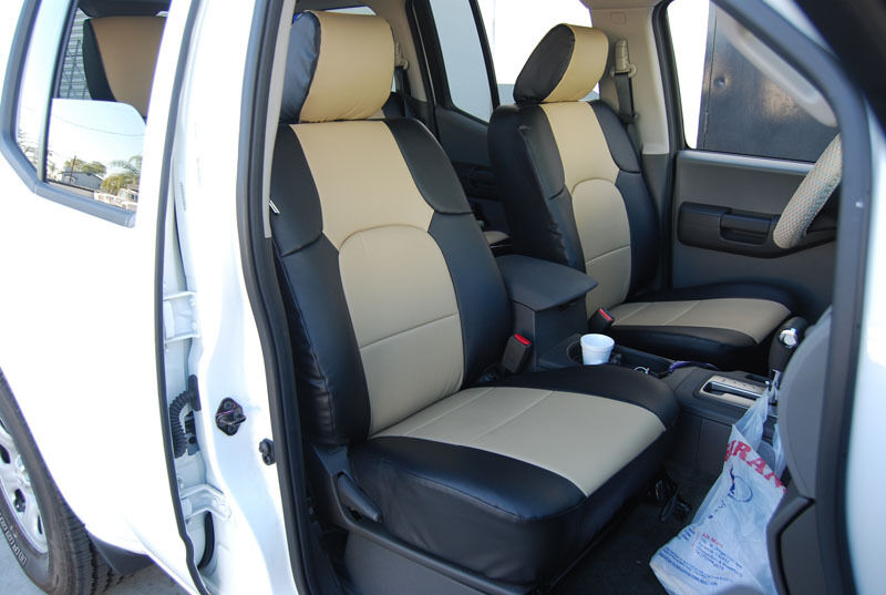 iggee s leather custom fit seat cover for 2005 2017 nissan frontier 13 colors ebay. Black Bedroom Furniture Sets. Home Design Ideas