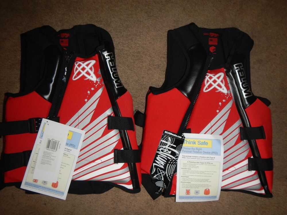 Set Of 2 Life Jackets Vest Pfd Neoprene Helium Mens Amp
