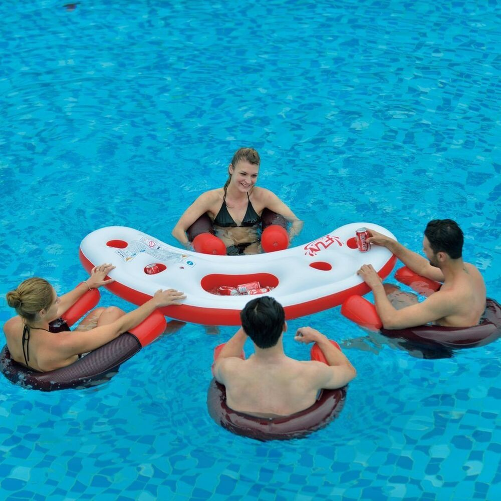 Inflatable 4 Person Designer Lounge Pool Chair Lilo Air