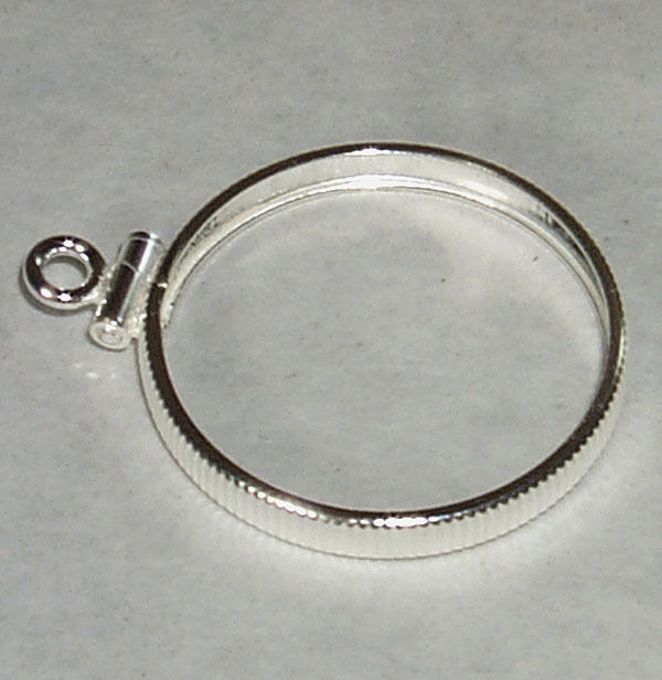 Coin Bezel Mount U S Dime Reeded Coin Edge Sterling