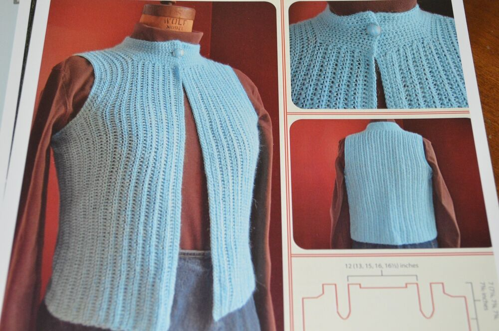 Crochet Patterns Intermediate : ... for Life Crochet Pattern Glimmer One Piece Vest Intermediate eBay