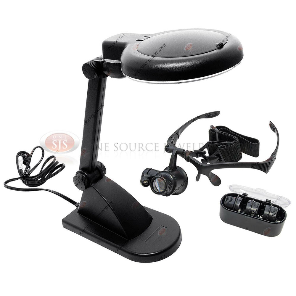 Illuminated Head Table Desk Lamp Led Magnifier Lighted