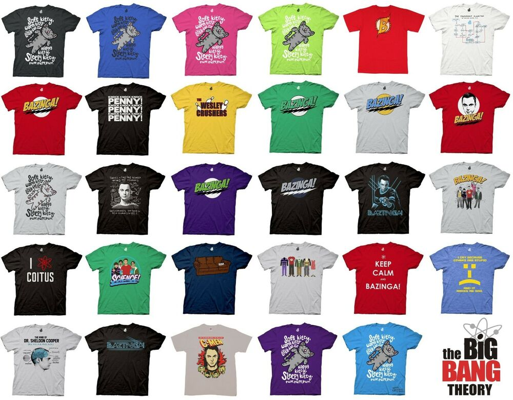 big bang theory choose officially licensed t shirt bazinga. Black Bedroom Furniture Sets. Home Design Ideas