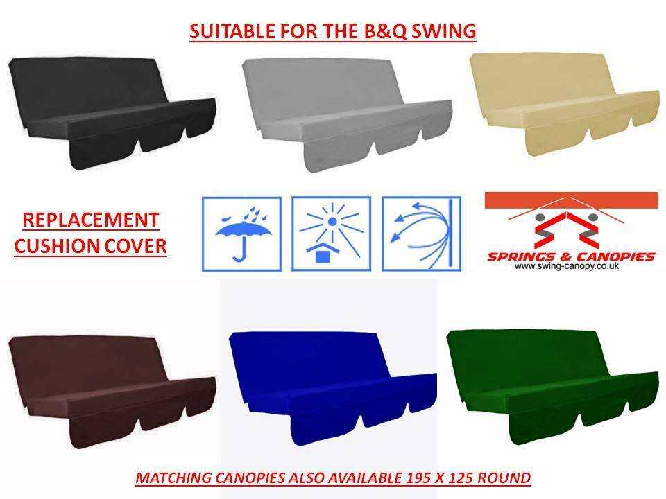 Replacement Swing Cushion Cover Suitable For B Q Colorado Garden 150cm Ebay