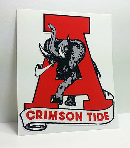 University of alabama crimson tide roll tide vintage for Alabama football mural