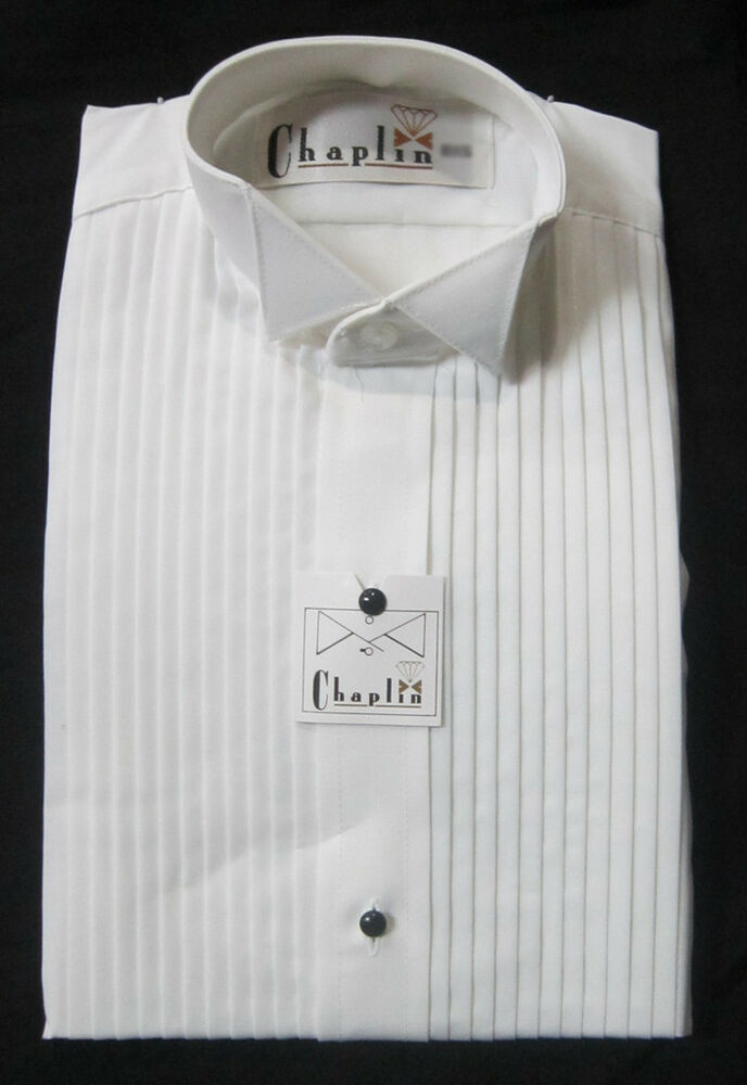 New 100 Cotton Large Mens Wing Collar White Tuxedo Shirt: 100 cotton tuxedo shirt