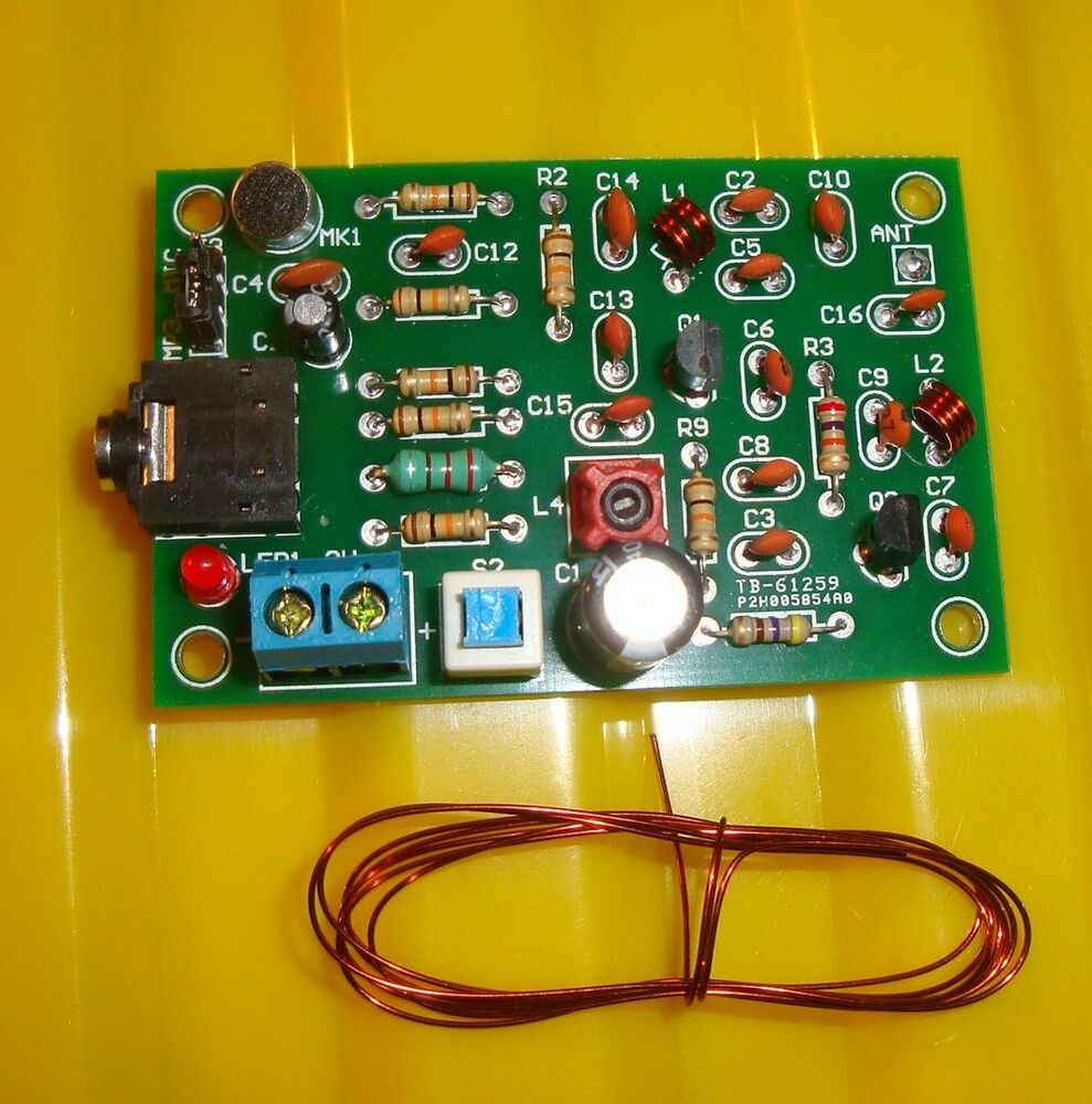 127 Mhz Transmitter Circuit Manual Guide Wiring Diagram Wireless Microphone Of Mc2831 Amplifiercircuit Fm Discrete Transistors 76 110mhz Ebay Board Charger