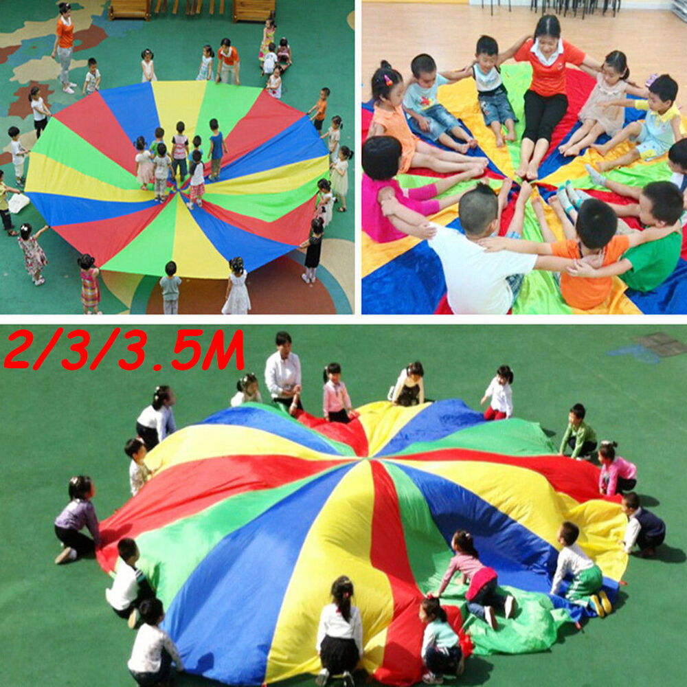 Fashion Kids Child Play Toy Rainbow Parachute Outdoor Game