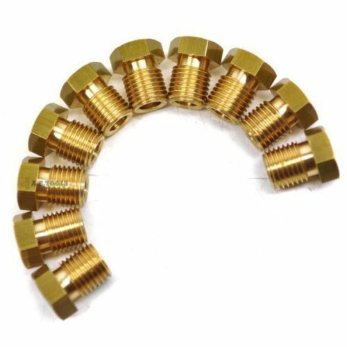 Brass Brake Pipe Fittings 7//16 x 20 UNF Male 10 Pack for 3//16 Pipe FL18