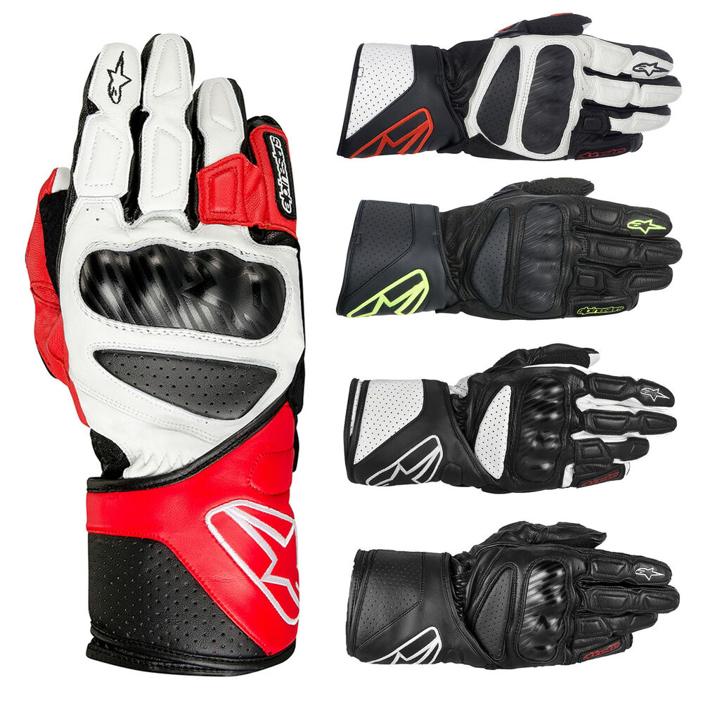 Alpinestars SP-8 SP8 Leather Motorbike Motorcycle Gloves ...