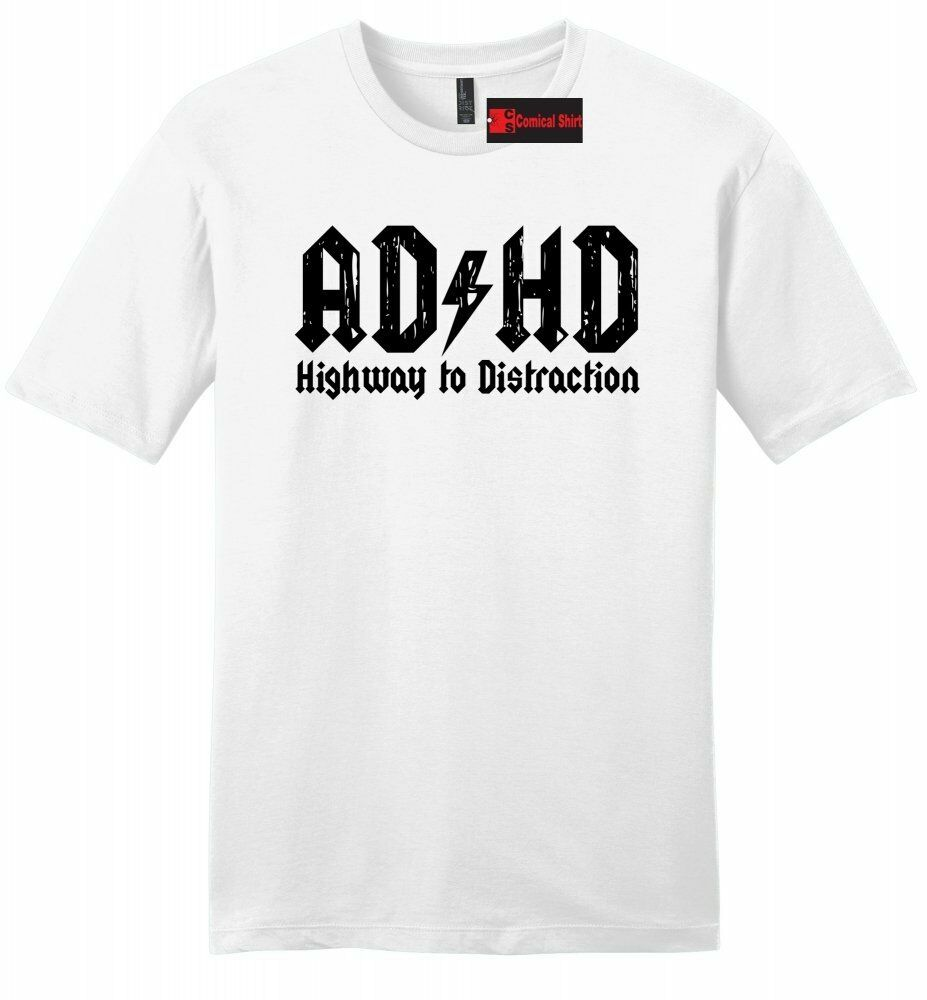 Adhd Highway To Distraction Funny Mens T Shirt Cute Music