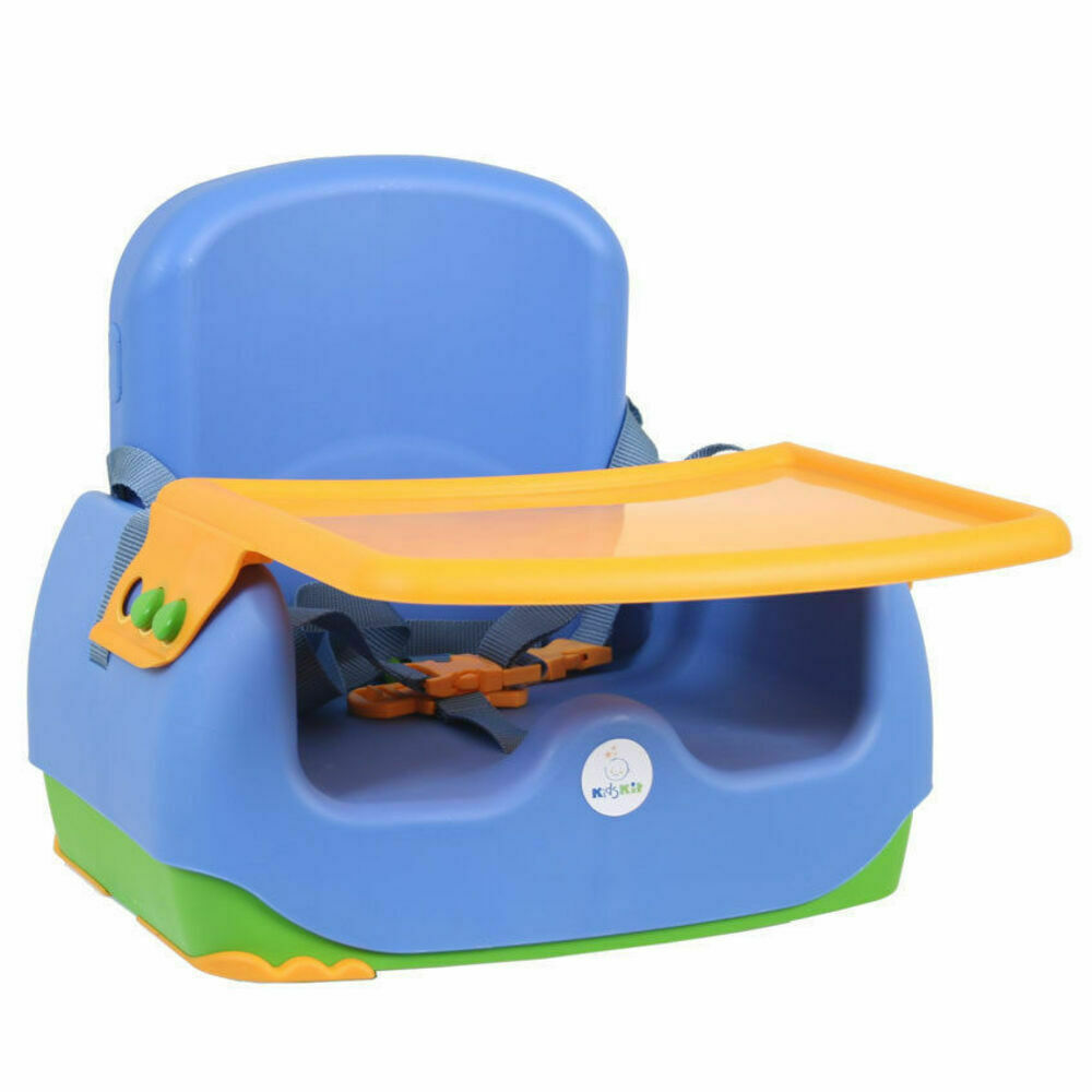 kids kit portable toddler baby booster seat feeding high chair w harness tray 7290005562273 ebay. Black Bedroom Furniture Sets. Home Design Ideas