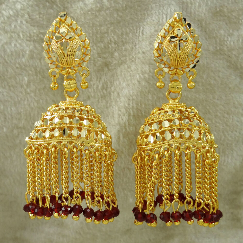 Perfect Goldtone Indian Women Drop Dangle Earring Set Wedding Jewelry BSE160-PAR | EBay