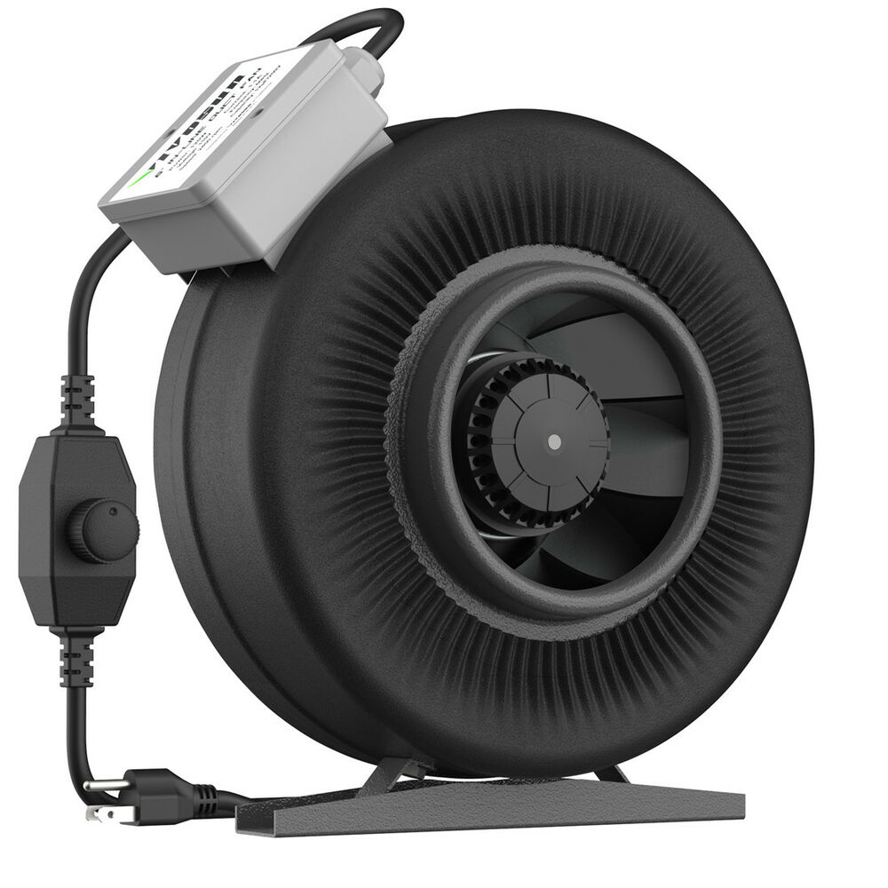 Inline Exhaust Fan : Inline duct exhaust fan air blower cooling ventilation