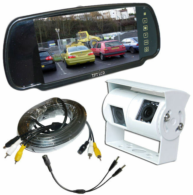 Twin Rear View Reversing Camera Kit With Mirror Monitor