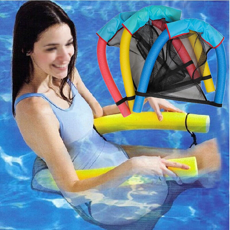 Amazing swimming pool floating soft chair seats bed water buoyancy stick noodle ebay for Swimming pool noodle fun chair