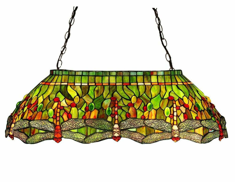 Pool Billiard Table Tiffany Stained Glass Dragonfly