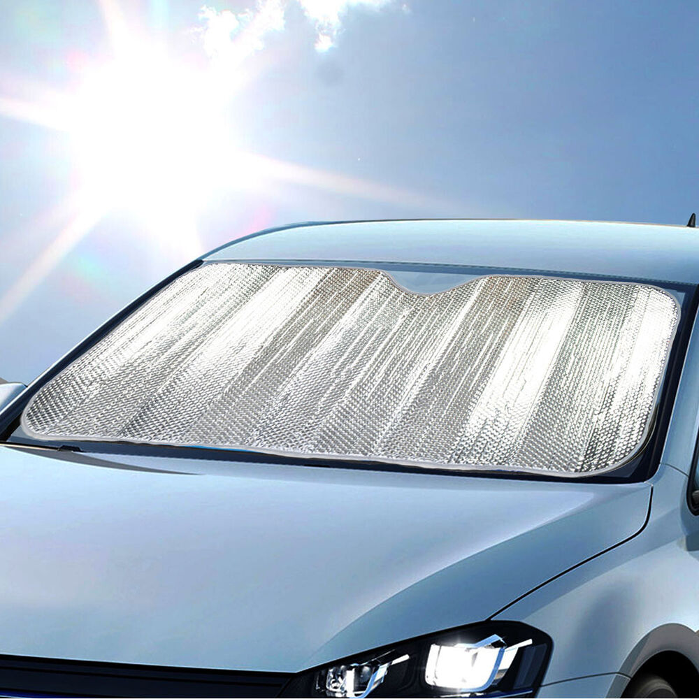 Standard Auto Sun Shade Foldable Metallic Chrome