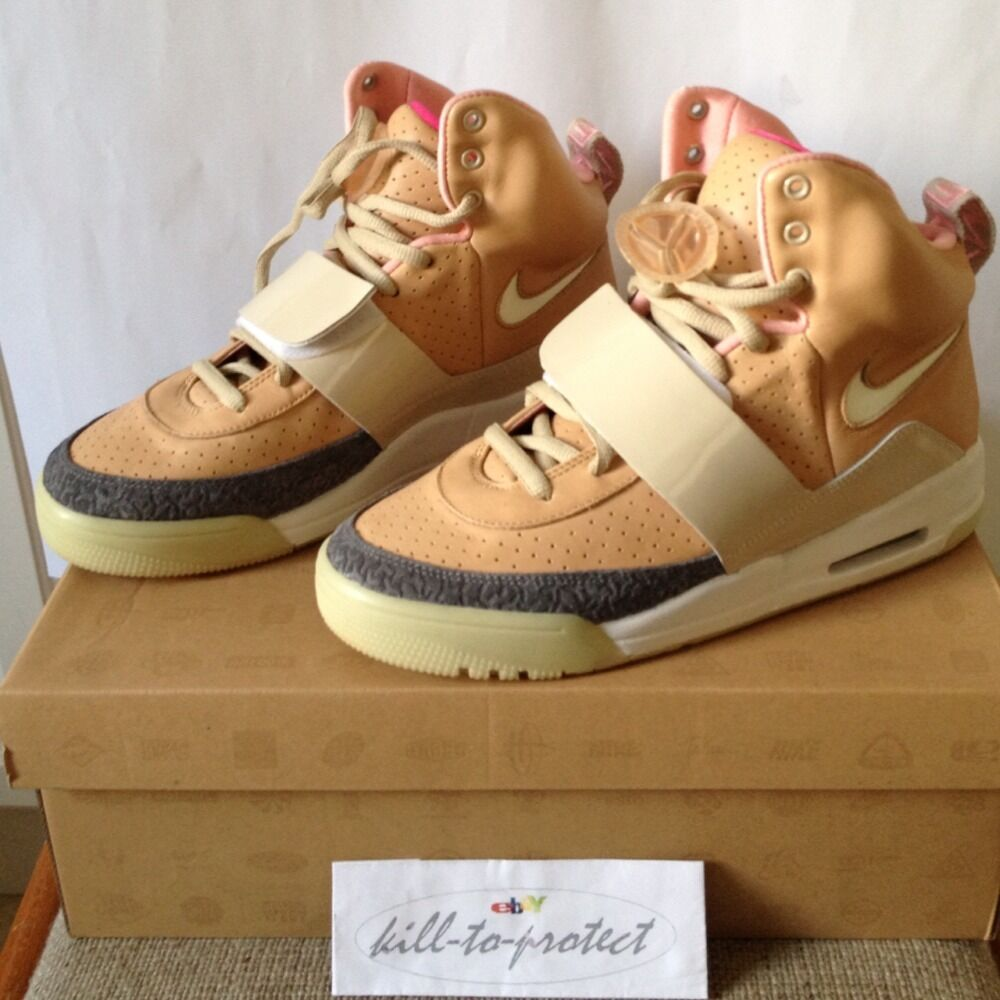 NIKE AIR YEEZY 1 NET/NET TAN US 8.5 UK 7.5 366164-111 Glow ...