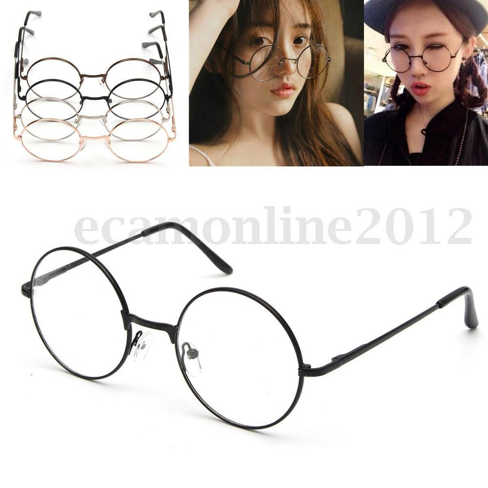 Old Glasses Frames New Lenses : Fashion Vintage Retro Round Circle Mirror Lens Eyeglasses ...
