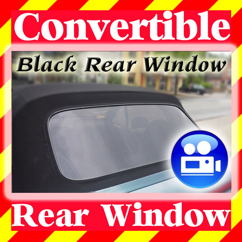 Bmw Z3 Replacement Roof: BMW Z3 Convertible Top Rear Window Cabriolet Cabrio Black